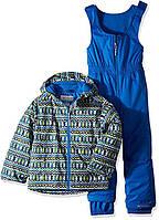 Детский зимний комплект - полукомбинезон и курточка Columbia Frosty Slope Set, цвет Cool Grey Zigzag Print