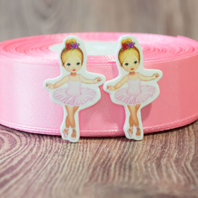 Кабошон-серединка Балерина в розовом платье