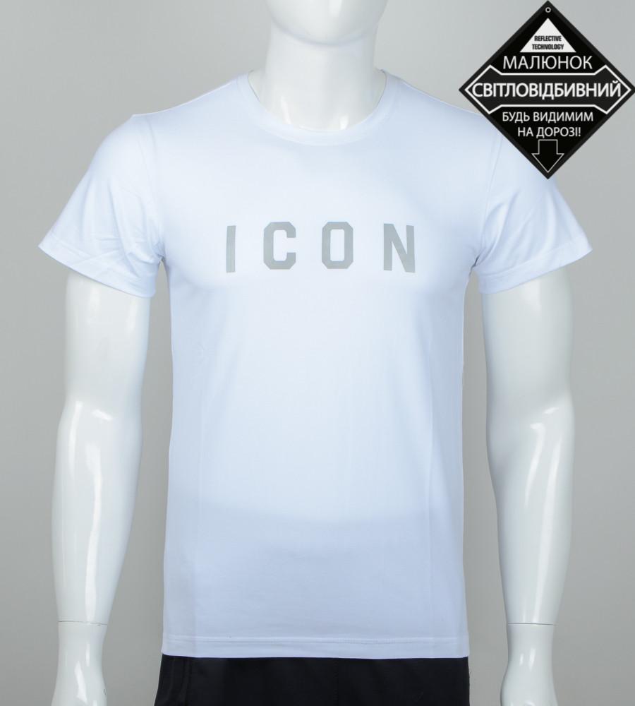 Футболка чоловіча світловідбиваюча ICON (0925м), Білий