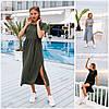 Р 42-48 Літній вільний трикотажне плаття 21831