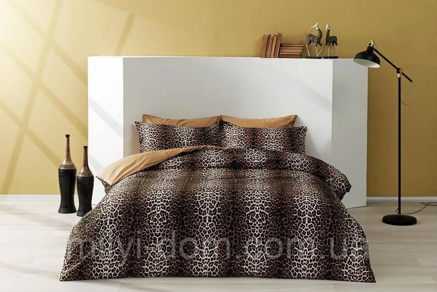 Набор постельного белья TAC Leopard Сатин (двуспальный евро)