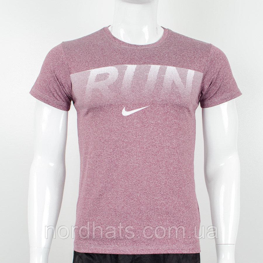 Футболка мужская мулине Run (2042м), Бордовый