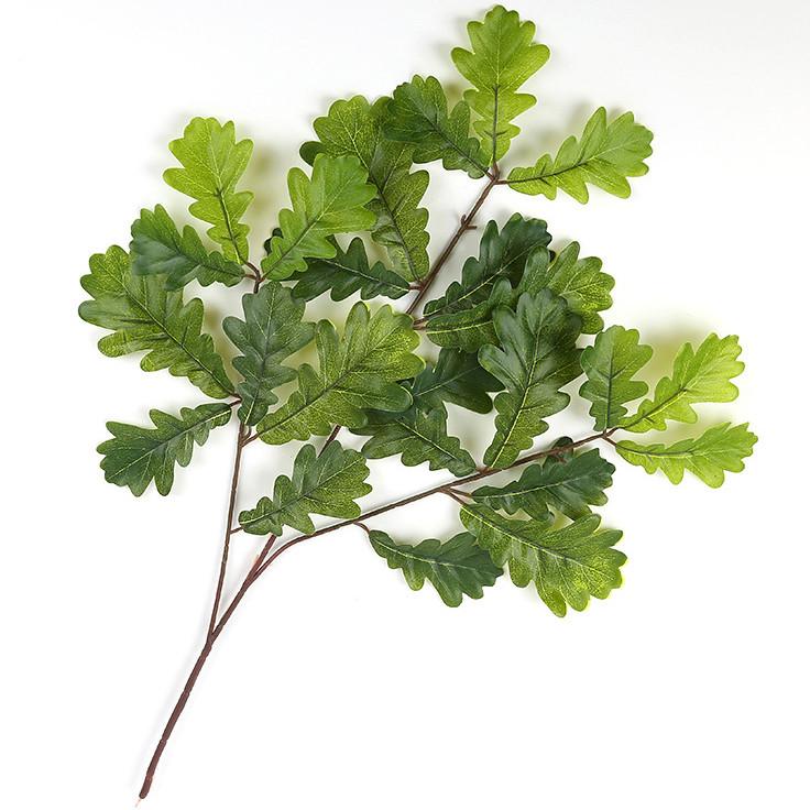 Ветка дуб зеленый  60 см ( 6 шт в уп)