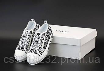Женские кроссовки Dior B23 High-Top Sneakers(белый)