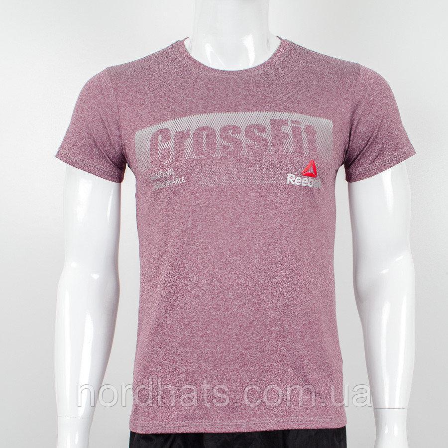 Футболка мужская батал Crossfit (2039б), Мулине бордо