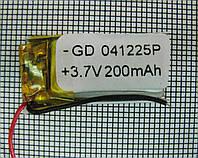Полимерный аккумулятор GD 041225P (3,7V 200 mAh)