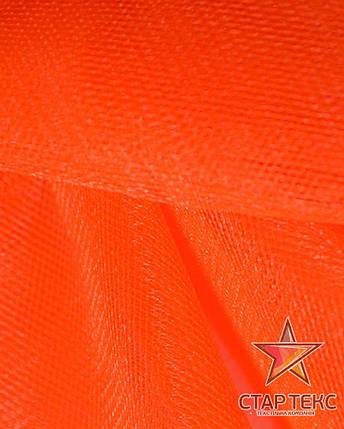 Фатин средней жесткости Crystal Tul Ярко-Оранжевый, фото 2