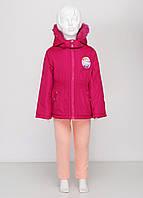 Зимняя детская куртка Charmmy kitty на девочку 98-104 см 4 года Малиновая 8170120-4, КОД: 1452566