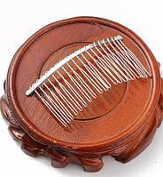 Основа - гребешок для волос металлический, 7,5 см