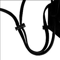 Маска многоразовая защитная с клапанами черная, фото 2