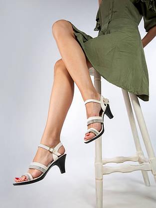 """Відкриті босоніжки жіночі """"ШКІРА"""" 8 пар в ящику бежевого кольору 36-41, фото 3"""