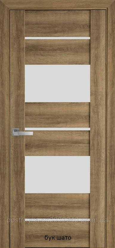 Двери межкомнатные Вива Аскона Новый Стиль ПВХ со стеклом сатин 60, 70, 80, 90