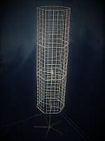 Вертушка барабан шестигранная напольная