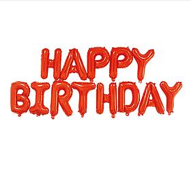 """Шары буквы фольгированные """"Happy Birthday"""" красные 16'"""