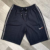 Шорты мужские хлопок Nike, размеры 44-54, тёмно-синие, 05623