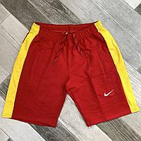 Шорты мужские хлопок Nike, размеры 46-54, красные, 05611