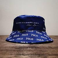 Мужская стильная панама (Polo Bear) blue / 58 размер