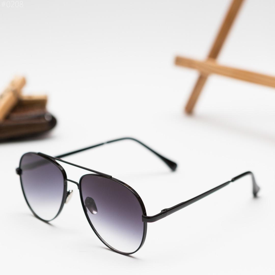 Мужские черные солнцезащитные очки