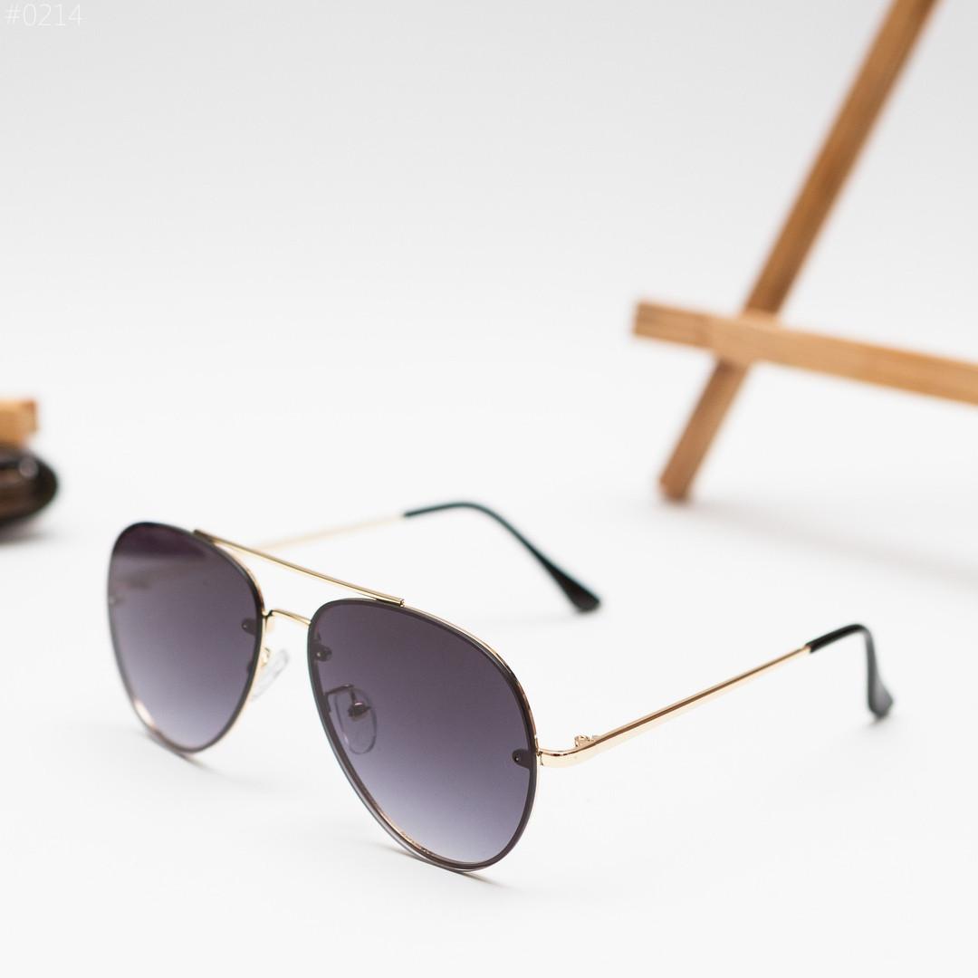 Мужские золотистые солнцезащитные очки