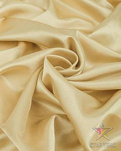 Ткань Креп Сатин Светлое-золото