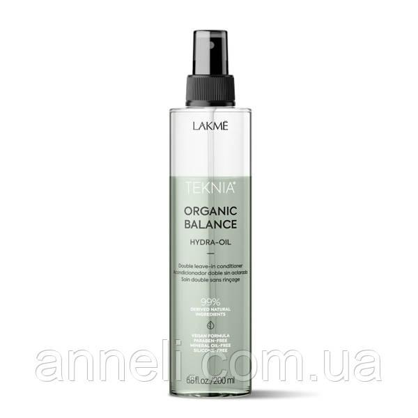Гидро-масло для ухода за волосами LAKME Teknia Organic Balance Hydra-Oil 200 мл