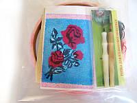 Набор Универсал для «ковровой вышивки»  2 иглы «Роза» Разноцветный 34, КОД: 1747459