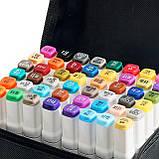 Скетч маркеры для художников Touch Smooth 48 шт фломастеры двусторонние спиртовые для рисования и скетчинга, фото 5