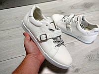 Мужские кеды Dolce Gabbana белые кожа резина