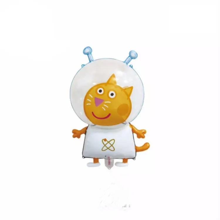 Кулька повітряний три кота космонавт 72*43 см