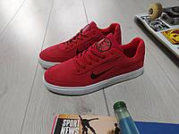 Мужские кеды Nike красные  текстиль резина