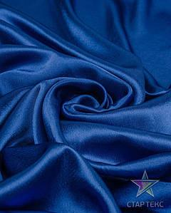 Ткань Креп Сатин Электро-синий