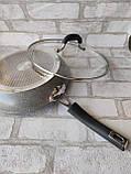 Сковорода з кришкою d-28 cм GUSTO GT-2107 615 грн, фото 4