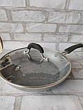 Сковорода з кришкою d-28 cм GUSTO GT-2107 615 грн, фото 6