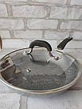 Сковорода з кришкою d-28 cм GUSTO GT-2107 615 грн, фото 7