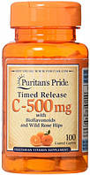 Puritan's Pride Chewable Vitamin C 500 mg with Rose Hips - 90 жев.таблеток