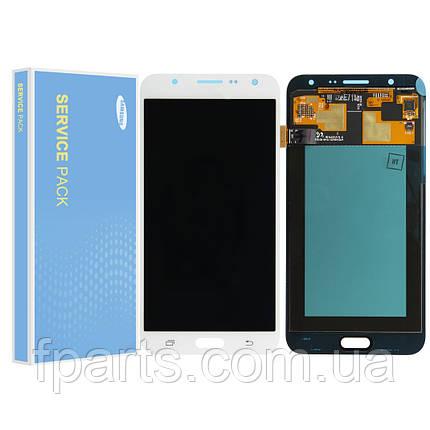 Дисплей для Samsung J700 Galaxy J7 (GH97-17670A) с тачскрином, White (Service Pack Original), фото 2