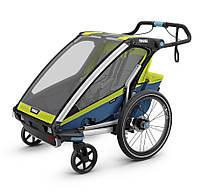 Детская коляска Thule Chariot Sport 2 Chartreuse-Mykonos (зеленый-синий)