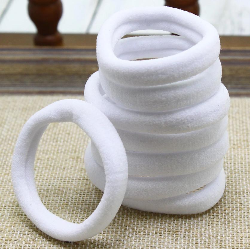 Резинки для волос Калуш микрофибра 5 см, белые (2 шт)