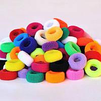 Резинки для волос махровые Калуш, цветные, 2 см (10 шт)