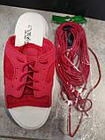 Шнурки гумки кольори білий, чорний,червоний, салатовий, фото 5