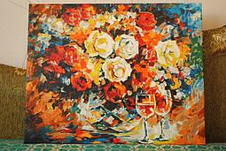 """Раскраска по номерам Babylon """"Розы и вино"""". На создание картины ушла неделя!!! Это невероятно!"""