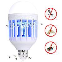 Антимоскитная лампа ловушка от комаров и энергосберегающая лампочка 2 в 1 Epik E27 / B22