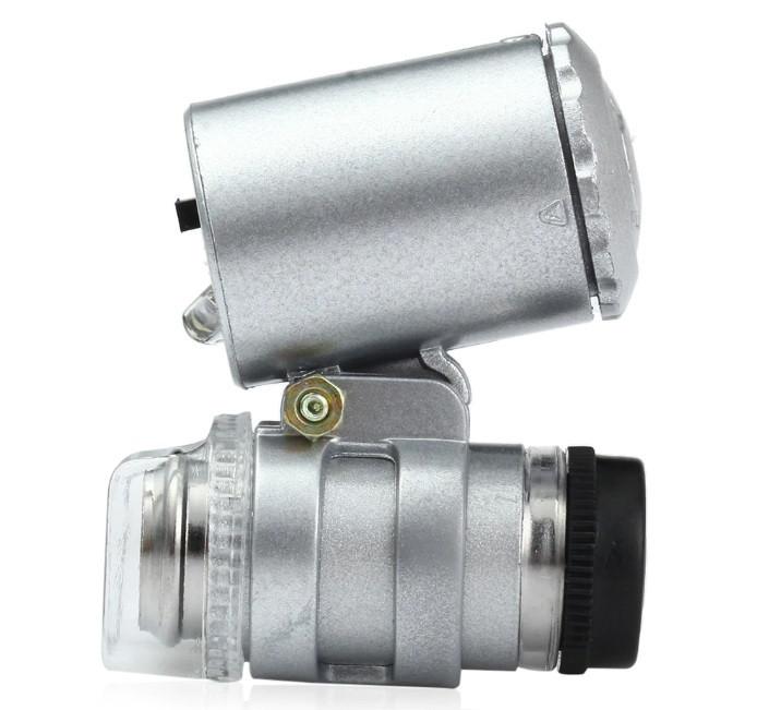 Карманный микроскоп 60X Серый