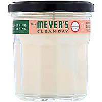 Mrs. Meyers Clean Day, Ароматизированная соевая свеча, с запахом герани, 204 г