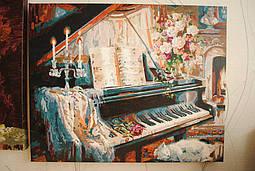 Музыкальный вечер у камина... данная картина просто дышит, глядя на нее слышен шорох платьев и первые аккорды...