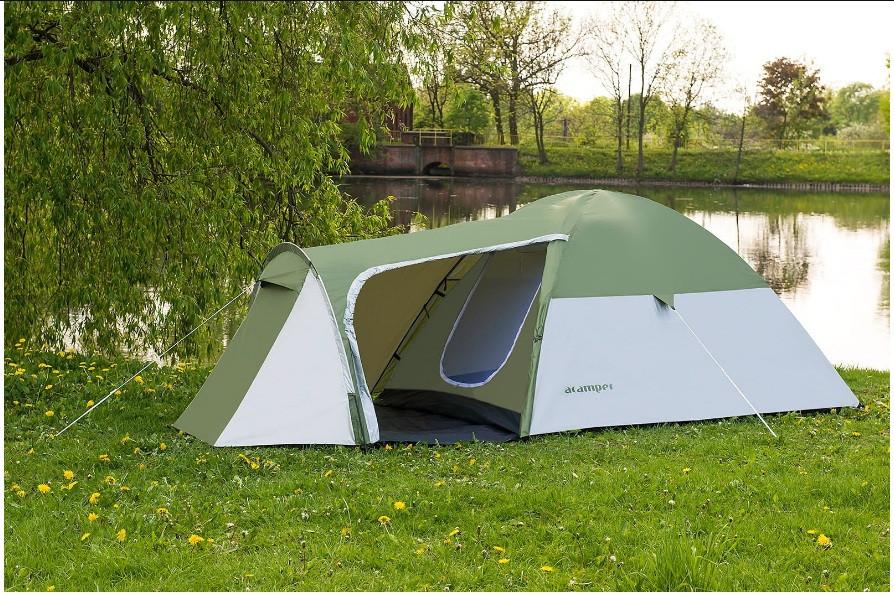 Палатка 4-х местная Presto Acamper MONSUN 4 PRO зеленая - 3500мм. H2О - 4,1 кг