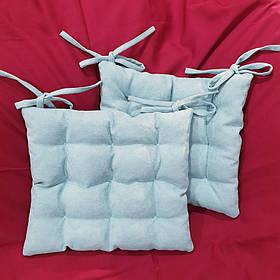 Мягкая подушка на стул с втяжками