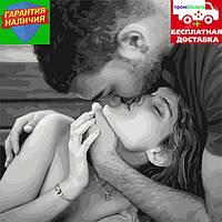 Картина по номерам Нежный поцелуй Ніжний поцілунок 40*40см KHO4668 Раскраска по цифрам
