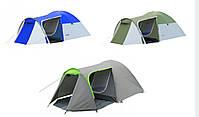 Палатка 4-х местная Presto Acamper MONSUN 4 PRO зеленая - 3500мм. H2О - 4,1 кг, фото 4