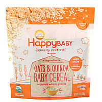Happy Family Organics, Clearly Crafted, каша для детей, овсянка и киноа, 198г (7унций)